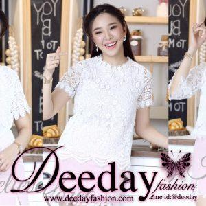 เสื้อแฟชั่นสีขาว เสื้อลูกไม้สีขาว แฟชั่นเสื้อผู้หญิงสีขาว ขายส่งราคาถูกแฟชั่นสไตล์เกาหลี