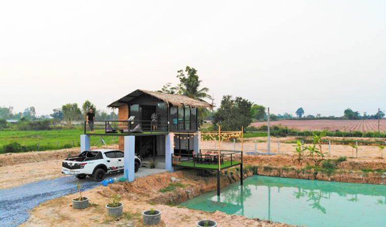บ้านสวน (งบ 350,000 บาท) เอาไว้พักผ่อนท่ามกลางธรรมชาติ
