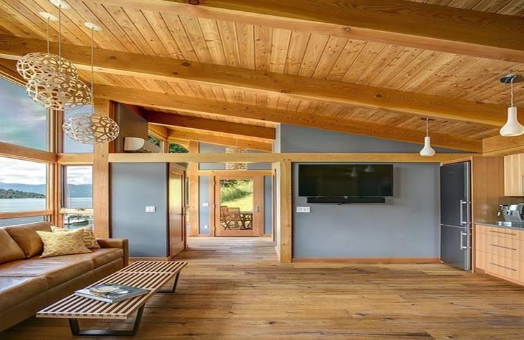 แบบบ้านไม้ชั้นเดียวยกพื้นสูงกับทิวทัศน์สวยมาก