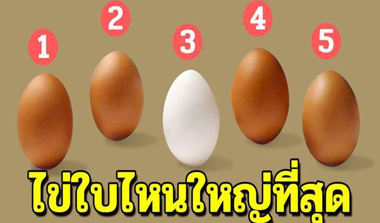 ไข่ใบไหนใหญ่ที่สุด การตัดสินใจจะบอกถึงบุคลิกของคนเลือกได้