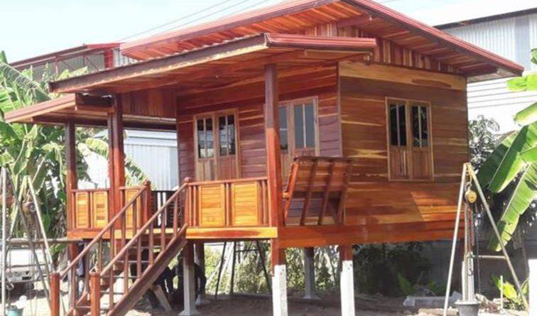 บ้านไม้ยกพื้นสูง เหมาะสำหรับทำเป็นบ้านพักตากอากาศ งบ 150,000