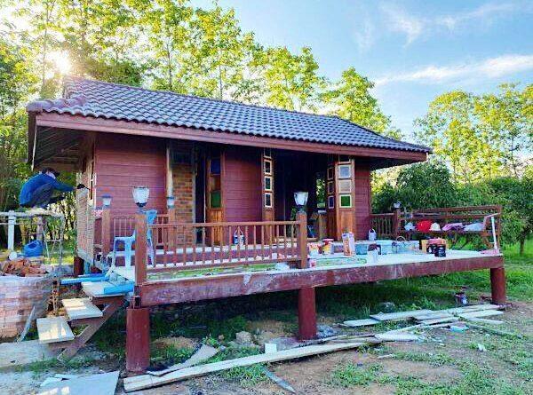 บ้านน้อยในสวน ขนาดกะทัดรัด เหมาะสร้างไว้พักพิงยามเกษียณ
