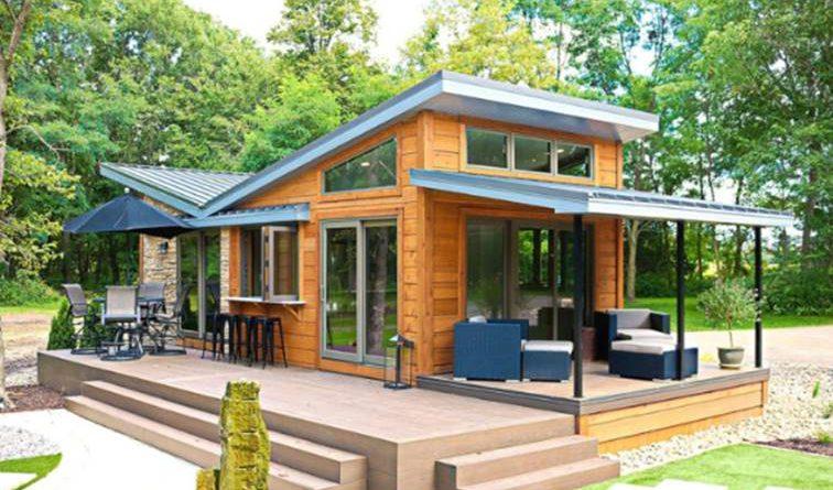 บ้านสไตล์โมเดิร์นขนาดเล็ก สวยน่าอยู่ ล้อมรอบด้วยธรรมชาติ