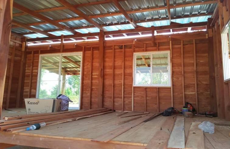 บ้านไม้ปลายนา ขนาดกะทัดรัด งบประมาณ 300,000 บาท