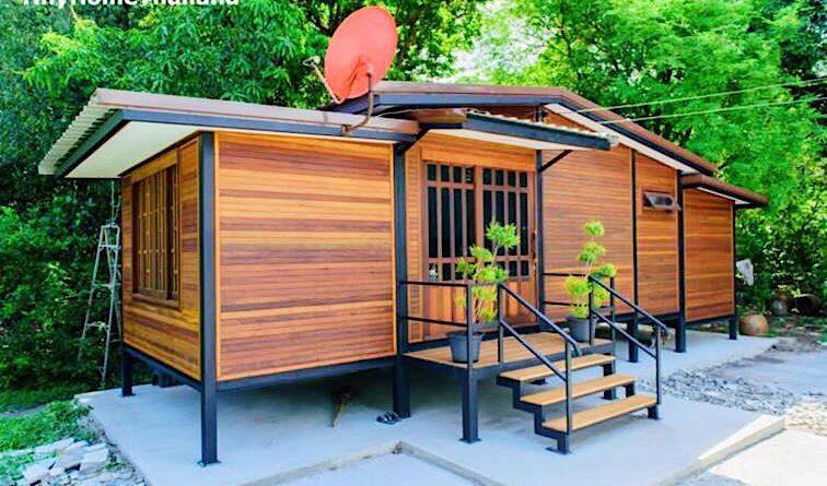 บ้านไม้จริงโครงสร้างเหล็ก กลิ่นอายบ้านไทยดั้งเดิม ขนาดกะทัดรัด 2 ห้องนอน 1 ห้องน้ำ
